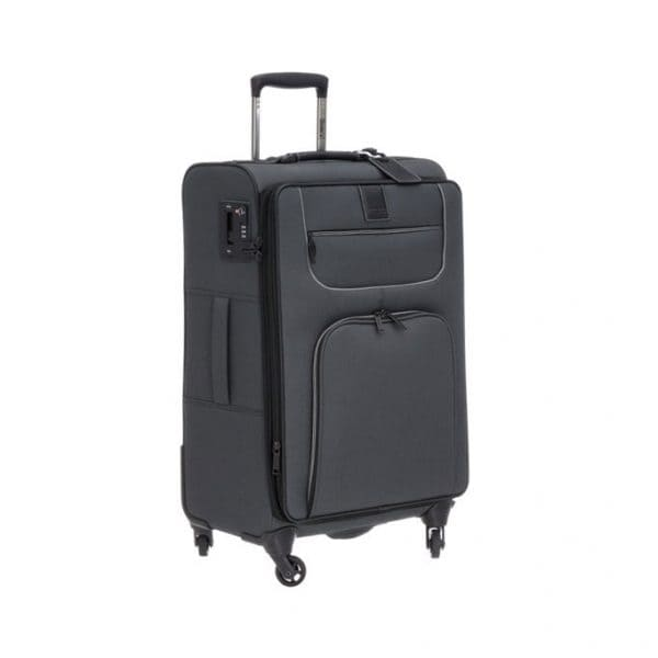 Stratic Go First-Stop Later 4-Rollen Trolley L 80 cm Black