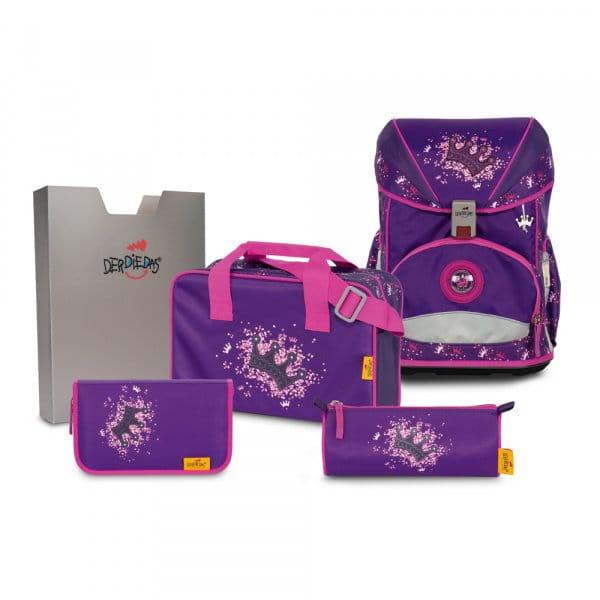 DerDieDas ErgoFlex Schulrucksack-Set 5tlg Purple Princess
