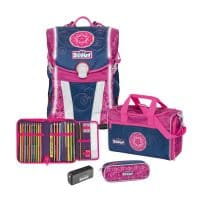 Scout Sunny Safety Light Schulranzen-Set 4tlg Pink Mandala