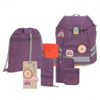 Lässig Unique Schulranzen-Set 7tlg Purple