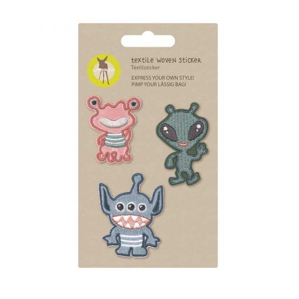 Lässig Textil Sticker-Set 3tlg Monster