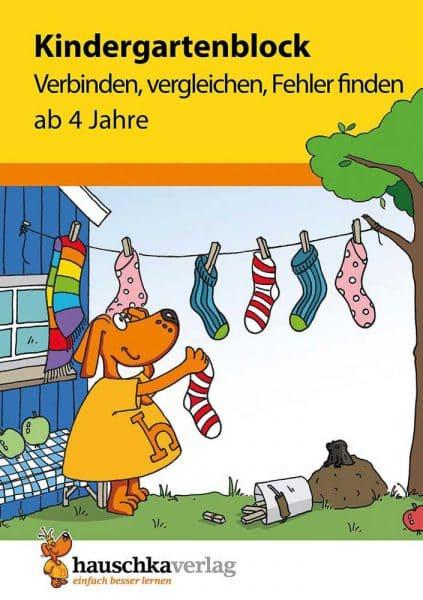Hauschka Verlag 622 Kindergartenblock - Verbinden, vergleichen, Fehler finden
