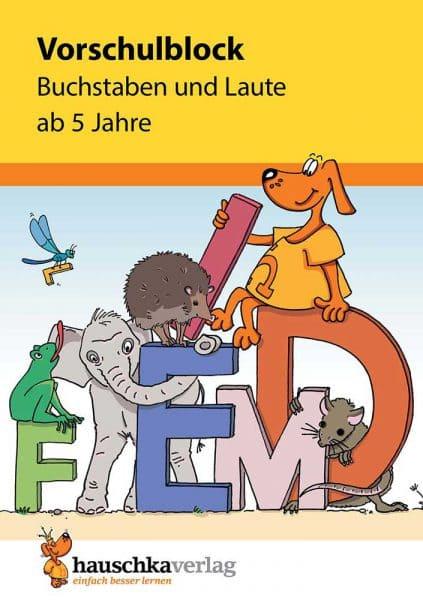 Hauschka Verlag 628 Vorschulblock - Buchstaben und Laute