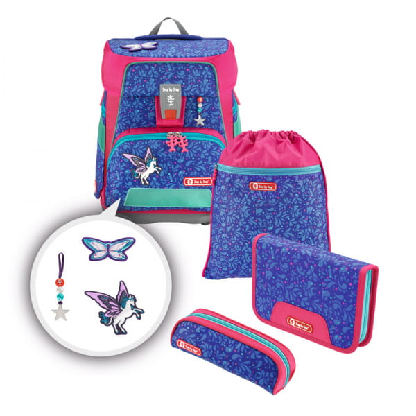 Step by Step e-Space Schulranzen-Set 5tlg Sparkling Pegasus 1