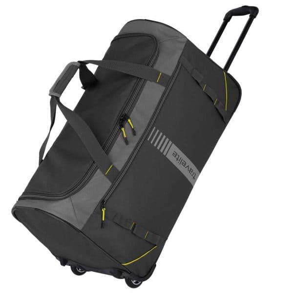 Travelite Basics Active Trolley Reisetasche 71 cm Anthrazit/Lemon