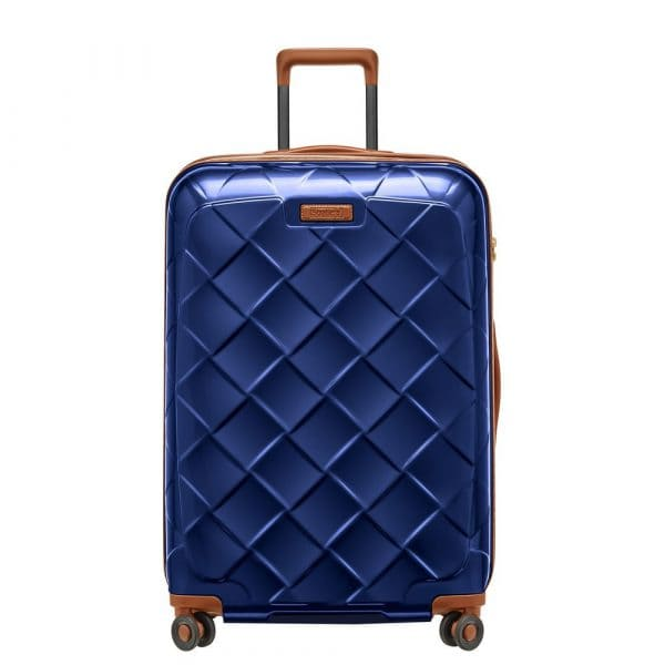 Stratic Leather and More 4-Rollen Trolley L 76 cm Blue