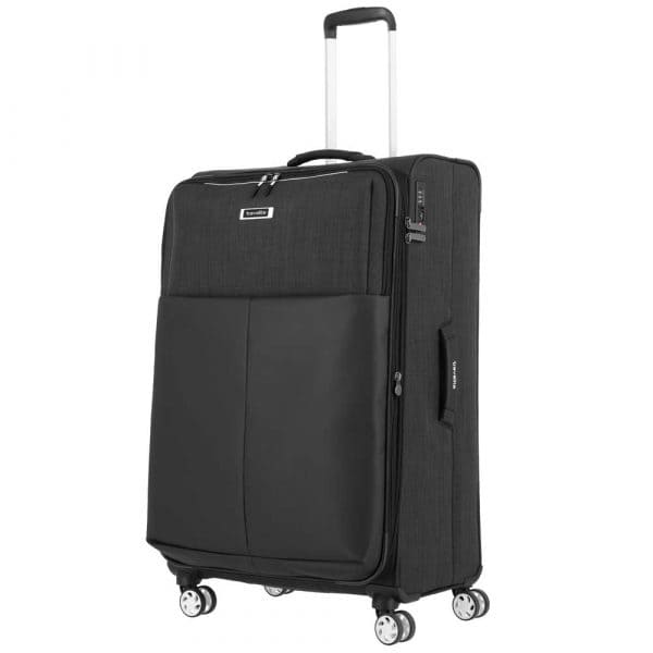 Travelite Proof 4-Rollen Trolley L 78 cm Schwarz