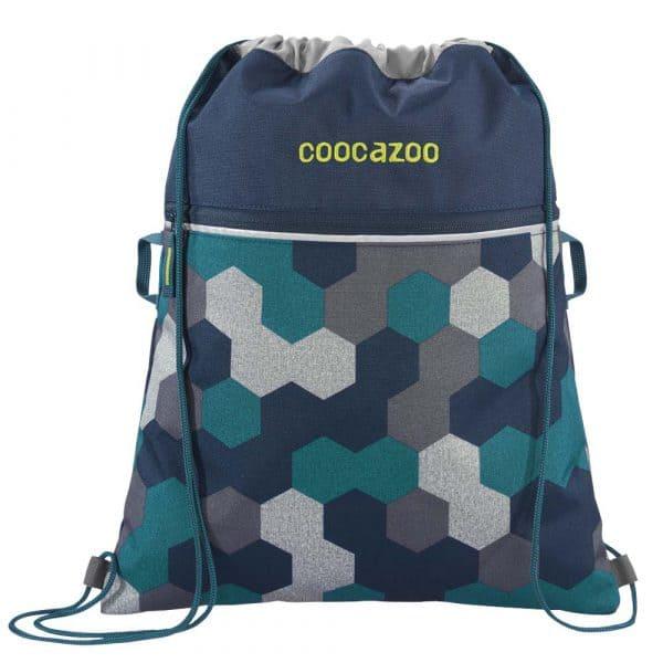 coocazoo RocketPocket2 Turnbeutel Blue Geometric Melan