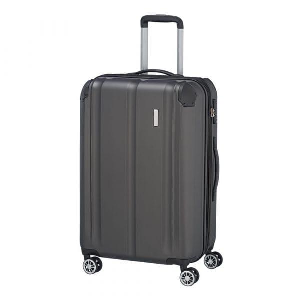 Travelite City 4-Rollen Trolley M 68 cm Anthrazit