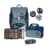 Scout Alpha Schulranzen-Set 4tlg Blue Ninja